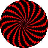 Op Art Rotating Windmills Red and Black Stock Photography