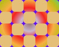 Op Art Rounded Squares Orange Royalty Free Stock Photography