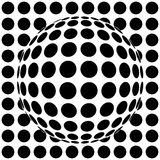Op-art sphere Stock Photography