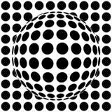 Op-art sphere. 3d vector illustration Stock Photography