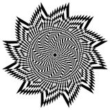 Op Art Star Flower Stock Image