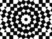 Op Art Star of Squares Royalty Free Stock Photo