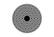 Op art style - black and white abstract optical illusion Royalty Free Stock Photography