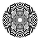 Op art style - black and white abstract optical illusion vector illustration