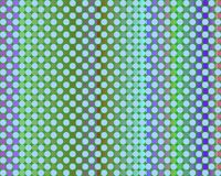 Op Art Thousand Circles Light Blue Green Stock Photography
