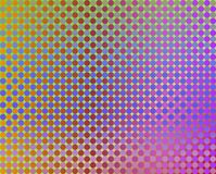 Op Art Thousand Circles Violet To Orange And Blue Stock Photo