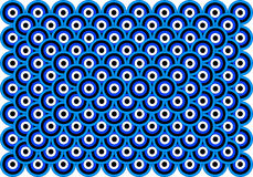 Op Art Thousand Eyes Blue Pale Blue White Black Stock Photos