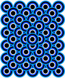 Op Art Thousand Eyes Blue Pale Blue White Black Stock Images
