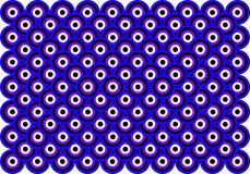 Op Art Thousand Eyes Blue Violet White Black Stock Image