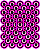 Op Art Thousand Eyes Purple White Black Stock Image