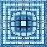 Op art two colors sphere pattern Royalty Free Stock Photography