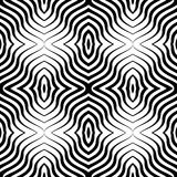 Op Art  Vector Seamless Geometric Pattern. Royalty Free Stock Photo