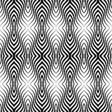 Op Art Vector Seamless Pattern Stock Foto's
