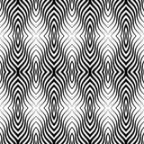 Op Art Vector Seamless Pattern Arkivfoton