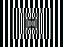 Op Art Vertical Reflections Black and White stock images