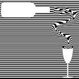 Op Art Wine Pouring Illustration Royalty Free Stock Photo