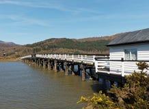 Opłata drogowa most przy Penmaenpool fotografia stock