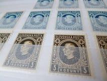 opłata pocztowa s stempluje u Zdjęcia Royalty Free
