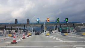 Opłaty drogowa stacja w Ionia ulicie Grecja Zdjęcie Stock