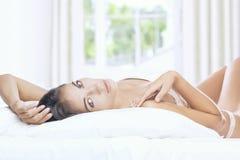 Op bed Royalty-vrije Stock Afbeelding