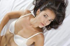 Op bed Royalty-vrije Stock Foto