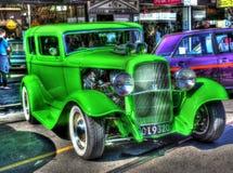 Op bestelling gemaakte 1932 groen Ford Tudor Royalty-vrije Stock Afbeeldingen