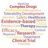 Op bewijsmateriaal-gebaseerde geneeskunde Stock Foto's