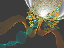 Op butterfly twist flare Stock Photo
