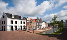 Op Buuren Buiten, The Netherlands. Very expensive houses and canal in Op Buuren Buiten, The Netherlands Royalty Free Stock Photos