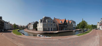 Op Buuren Buiten, The Netherlands. Very expensive houses and canal in Op Buuren Buiten, The Netherlands royalty free stock images