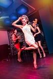 Op dancefloor royalty-vrije stock foto's