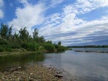 Op de bank van de Irtysh-rivier royalty-vrije stock foto
