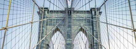 Op de beroemde Brug van Brooklyn Stock Foto