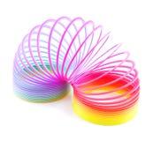Op-de-bewerkt de spiraalvormige lente van de regenboog in verstek Stock Afbeelding