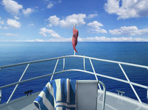 Op de boot Stock Afbeeldingen