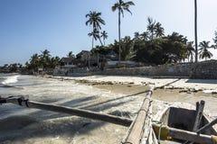 Op de boot in Zanzibar Stock Afbeelding