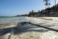 Op de boot in Zanzibar Stock Foto's