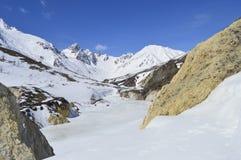 Op de bovenkant van de berg Royalty-vrije Stock Fotografie