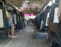 Op de bus Royalty-vrije Stock Foto