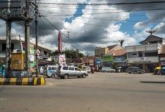 Op de centrale straat in Rantepao Stock Afbeeldingen