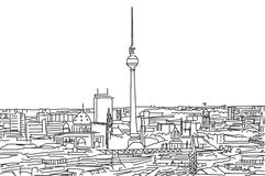 Op de daken van het gekrabbel van Berlijn Stock Afbeelding