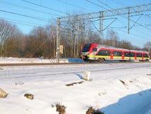 Op de de wintersleep stock foto