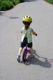Op de fiets Stock Fotografie