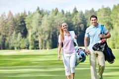 Op de golfcursus stock foto's