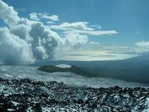 Op de hellingen van Etna Stock Afbeeldingen