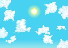 Op in de hemel. Stock Foto's