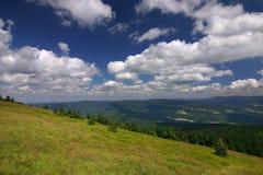 Op de heuvel stock foto