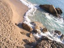 Op de kust Stock Afbeeldingen