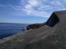 Op de kust van de Vreedzame oceaan Stock Afbeeldingen