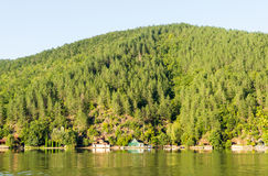 Op de kust van Westelijk Moravië in Servië Stock Fotografie